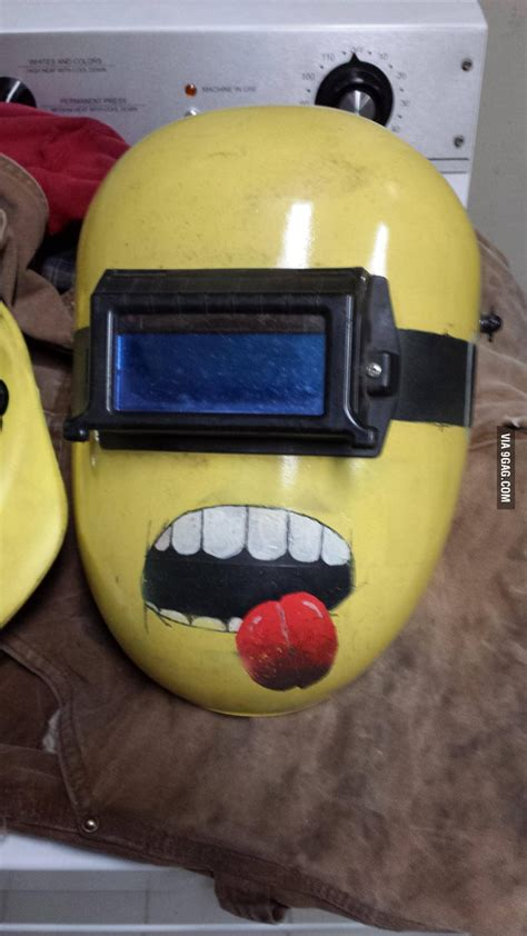 minion welding mask gag