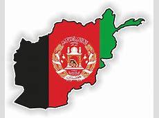 Afghanistan LandKarte Flagge Aufkleber Silhouette Motorrad