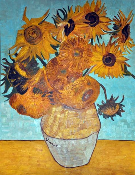 i fiori di gogh vaso con 12 girasoli around my