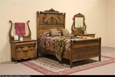 oak victorian 1900 antique 3 pc bedroom set full size