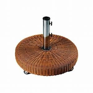 Pied Pour Parasol : pied de parasol design avec tissage en resine sur roulette ~ Teatrodelosmanantiales.com Idées de Décoration
