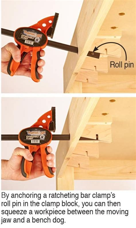 turn  bar clamp   vise woodworking bench plans