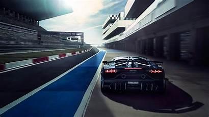 4k Lamborghini Svj Aventador Track Race Wallpapers