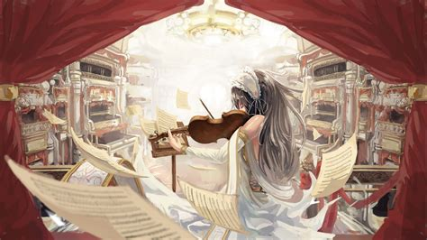 Violin Wallpaper Anime - violin anime original characters wallpapers hd