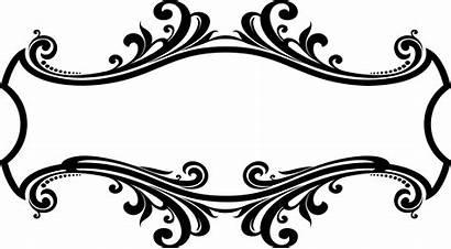 Flourish Decorative Ornamental Clipart Frame Decoration Transparent