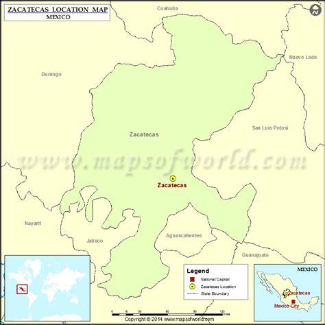 zacatecas location  zacatecas  mexico map