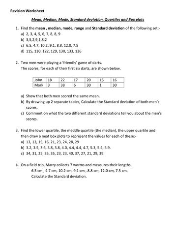 Mean, Median and mode, Standard deviation by deeplota