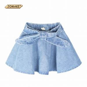 Girls Denim Skirts Summer Style Children Kids Clothes Casual Toddler Girl Bow Mini Party Jean ...