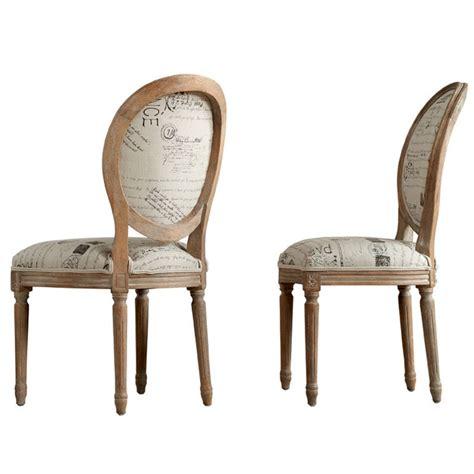 chaise h et h chaise médaillon en chêne et
