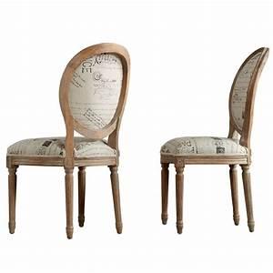 Chaise Medaillon But : chaise m daillon en ch ne et lin ~ Teatrodelosmanantiales.com Idées de Décoration