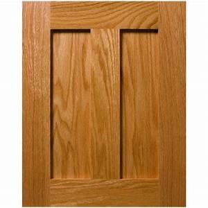 Custom Auburn Shaker Style Flat Panel Cabinet Door