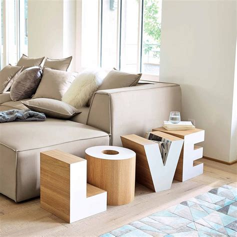 bout de canape bois bout de canapé en bois blanc l 121 cm maisons du