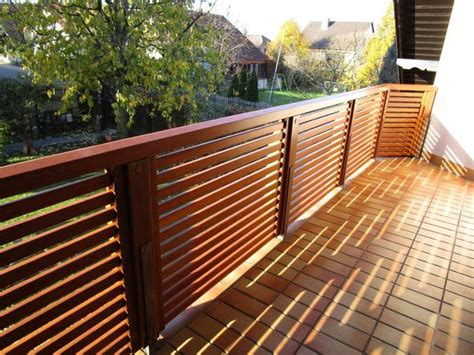 balkongeländer holz modern balkongel 228 nder meranti teak lackiert schreinerei