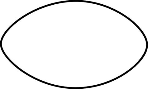 football template printable free printable football stencil thin football outline clip kiffer outlines