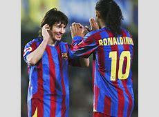 Xavi Iniesta Ronaldinho Maradona and Messi in Barca XI
