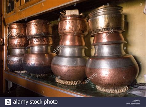 traditional brass utensils stock  traditional brass utensils stock images alamy