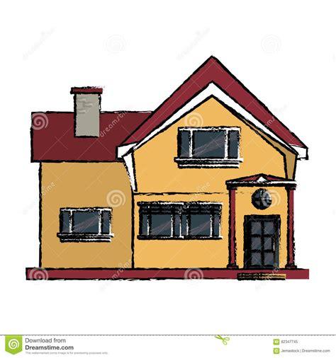 maison de cagne dessin fen 234 tre 224 la maison de dessin de chemin 233 e gentille illustration de vecteur illustration