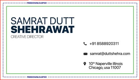 creative business card template freedownloadpsdcom