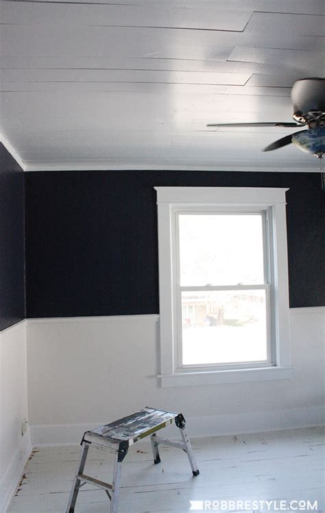 Shiplap Ceiling Pictures by Diy Shiplap Bedroom Ceiling Robb Restyle