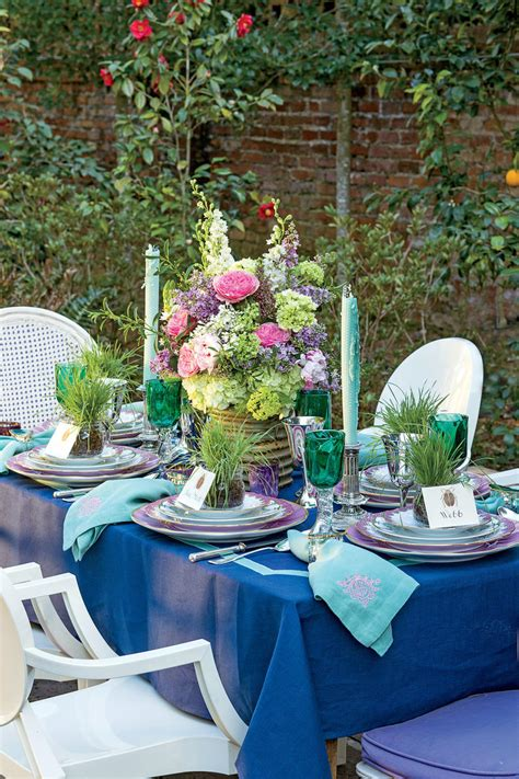 Garden Southern Setting by Garden Table Setting Southern Living
