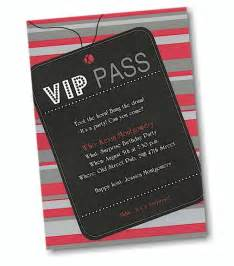 VIP Pass Birthday Party Invitations
