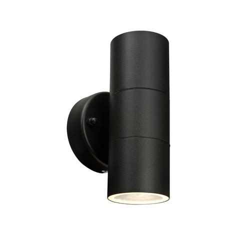 blooma somnus black external up down wall light blooma somnus black mains powered external up down wall