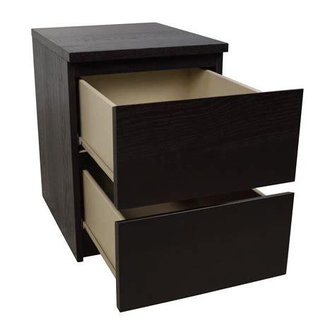 Malm Nightstand Ikea by 67 Ikea Ikea Malm Black Two Drawer Nightstand Tables