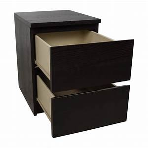 Wickeltischauflage Ikea Malm : 67 off ikea ikea malm black two drawer nightstand tables ~ Michelbontemps.com Haus und Dekorationen
