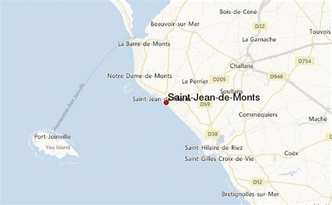 meteo de jean de monts jean de monts location guide