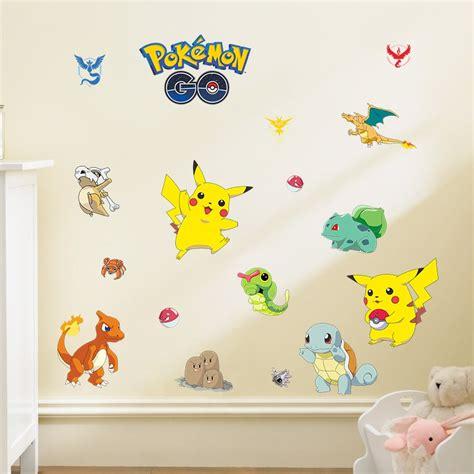 buy cartoon pokemon  wall stickers  kids rooms home decor pikachu wall