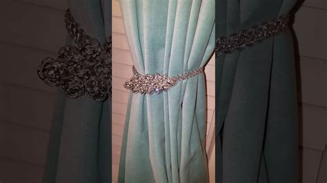 How To Make Bling Curtain Tie Back Made With Hair