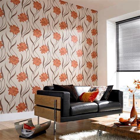 Burnt Orange Orange Wallpaper For Walls by Poppy Burnt Orange Wallpaper By Graham And Brown