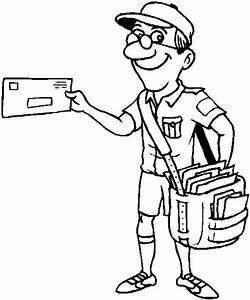 mail carrier coloring page   Coloring Page for kids