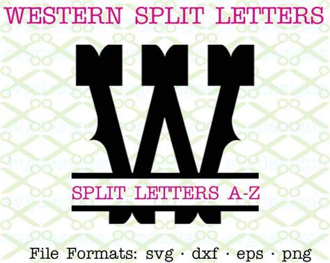 western split letter monogram cricut silhouette svg dxf eps png monogramsvgcom  svg designs