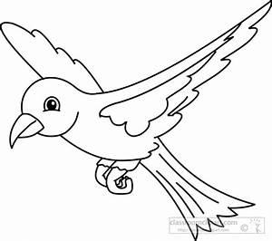 Animals : bird-black-white-outline-910 : Classroom Clipart