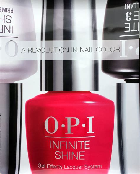 poster  side opi infinite red