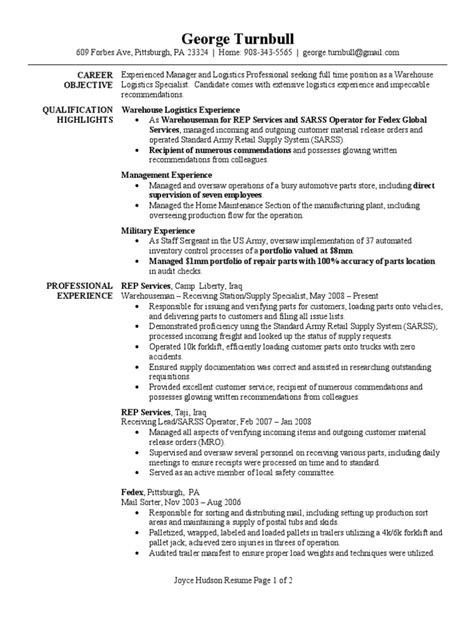 warehouse specialist resume 18 astounding design warehouse