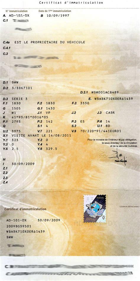 modele voiture carte grise image modele carte grise fni