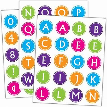 Alphabet Stickers Brights Bright Teachercreated Teacher