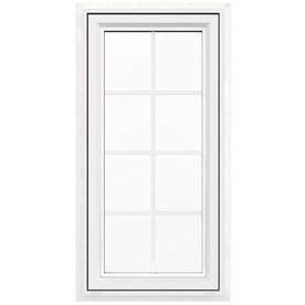 jeld wen    lite vinyl double pane double strength  construction casement window rough