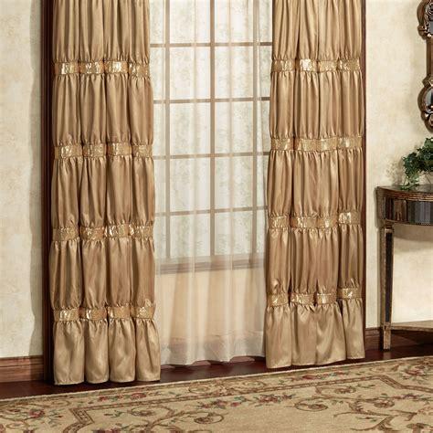 gold draperies splendor shirred faux silk gold window treatment