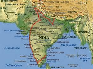 Nepal E India Mapa