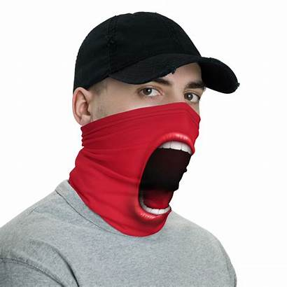 Mask Face Funny Gaiter Mouth Neck Screaming