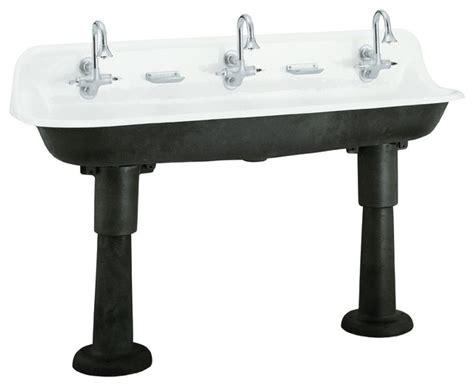 Kohler Brockway Sink by Kohler Brockway Wash Sink Eclectic Kitchen Sinks By