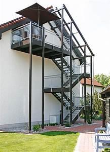 aussentreppen mit gelander nach mass kliegl treppenbau With französischer balkon mit außentreppe garten