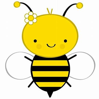 Bee Bees Clip Bumble Clipart Honey Shower