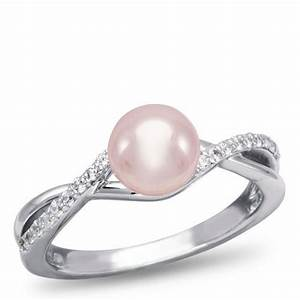 Pink pearl engagement ring weddings pinterest for Pink pearl wedding rings