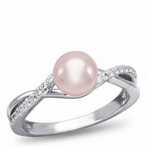 Pink pearl engagement ring weddings pinterest for Pink pearl wedding rings