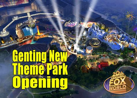 News Themes Genting New Theme Park Opening Malaysia Asia Travel