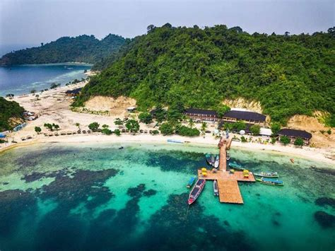 wisata pulau tegal mas lampung penginapan cottage resort